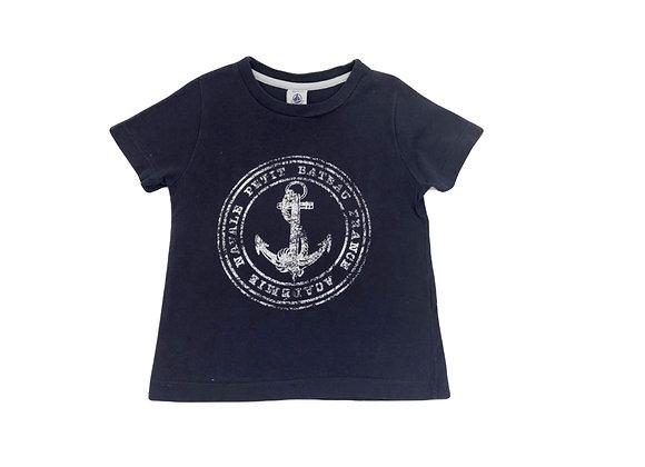 T-shirt Petit Bateau imprimé ancre 3 ans