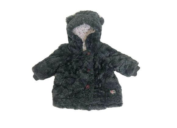 Manteau Catimini en fourrure gris 6 mois