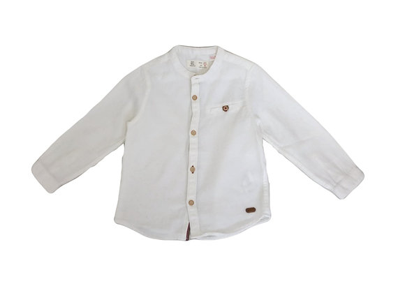 Chemise Zara en flanelle blanche 2/3 ans (98cm)