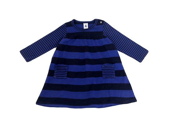 Robe Petit bateau en coton bleue 12 mois