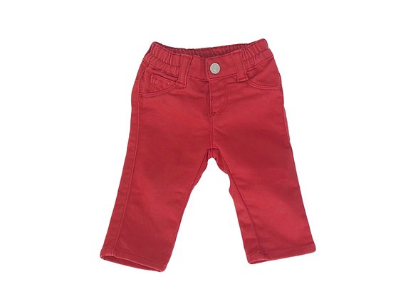 Pantalon Benetton rouge 1/3 mois mixte