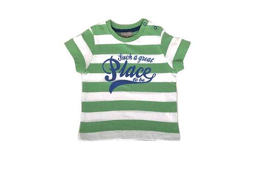T-shirt manches courtes Grain de blé  vert 6 mois