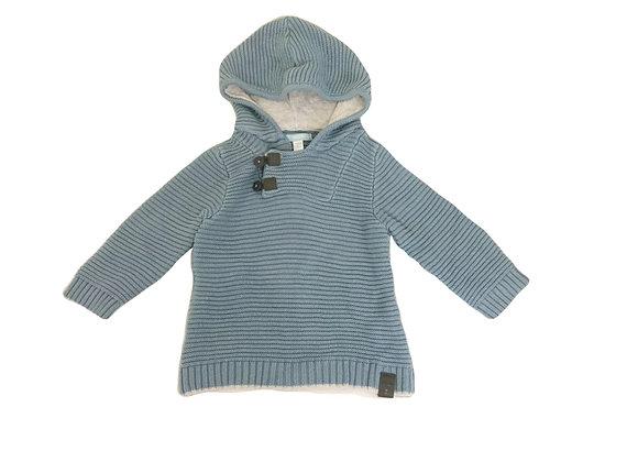Pull Obaibi à capuche bleu 18 mois