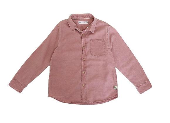 Chemise Zara rouge 7 ans