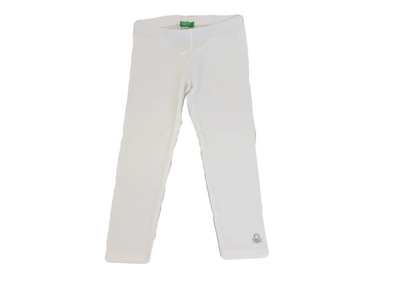 Legging Benetton blanc 3/4 ans