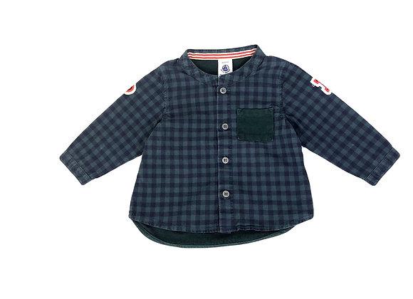 Chemise Petit Bateau col mao à carreaux 6 mois