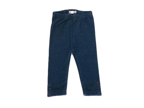Legging DPAM stretch bleu brut 6 mois