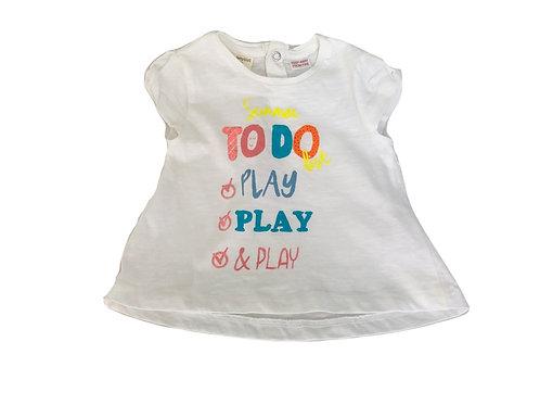T-shirt Zara blanc 3/6 mois (68cm)