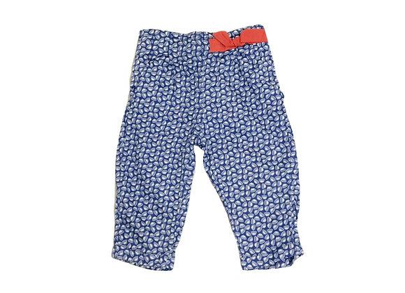 Pantalon Obaibi en toile bleu 12 mois