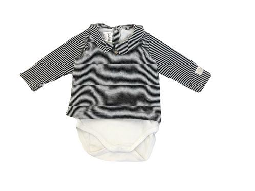 T-shirt Petit Bateau rayé à col 6 mois