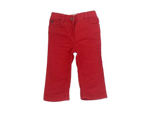 Pantalon Cyrillus rouge 12 mois