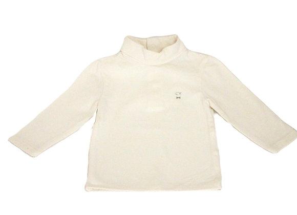 T-shirt à col roulé Cyrillus blanc 6 mois