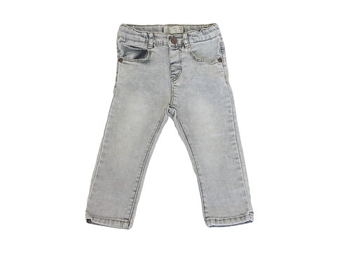 Jean Zara gris délavé 9/12 mois (80cm)