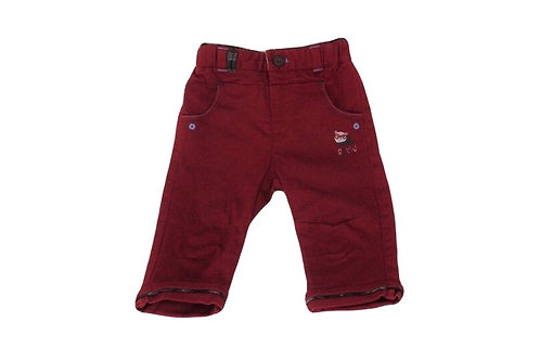 Pantalon Sergent Major rouge 9 mois