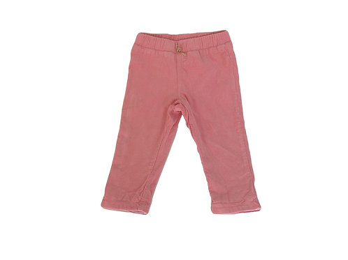 Pantalon Absorba en velour côtelé rose 12 mois