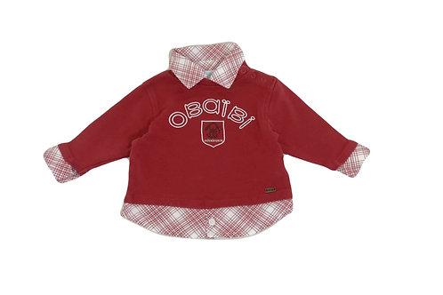 T-shirt Obaibi  rouge 6 mois