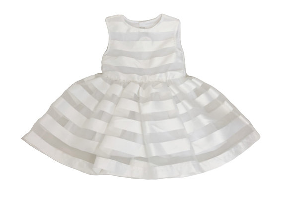 Robe Jean Bourget blanche 4 ans