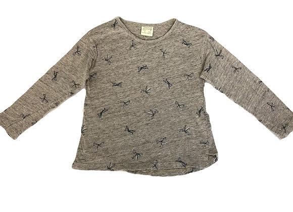 T-shirt manches longues Zara beige chiné 5 ans