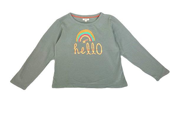 T-shirt longues manches Marlot vert 8 ans