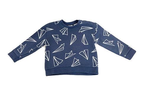 Sweat Zara bleu imprimé 2/3 ans (98cm)