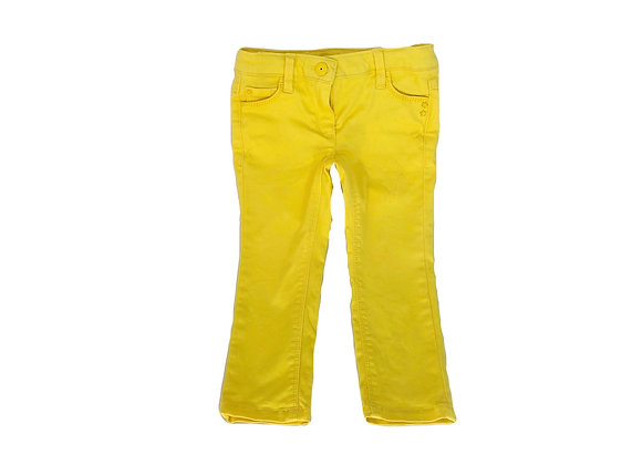 Pantalon Vertbaudet jaune 2 ans