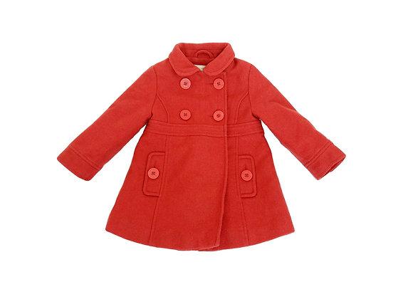 Manteau Vertbaudet rouge 2 ans