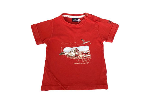 T-shirt Sergent Major rouge 3 ans