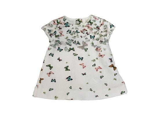 Robe Zara  imprimée papillons 3/6 mois