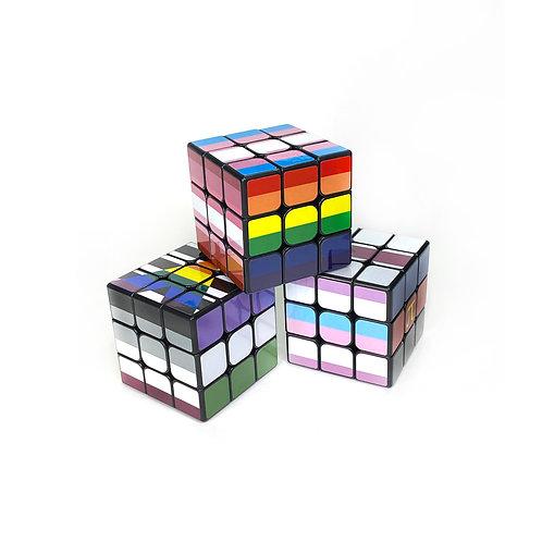 Pride Flag 3x3 Puzzle Cubes