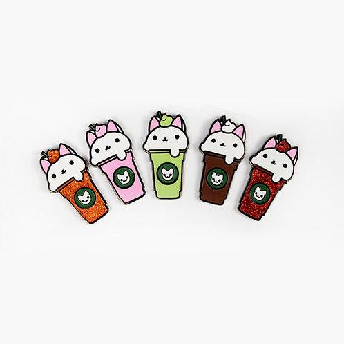 Kittyccino Enamel Pin~ Cat Iced Latte Brooch