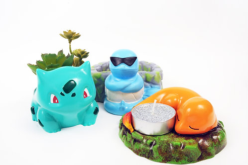 Starter set 3 pokemon Planters and tealight