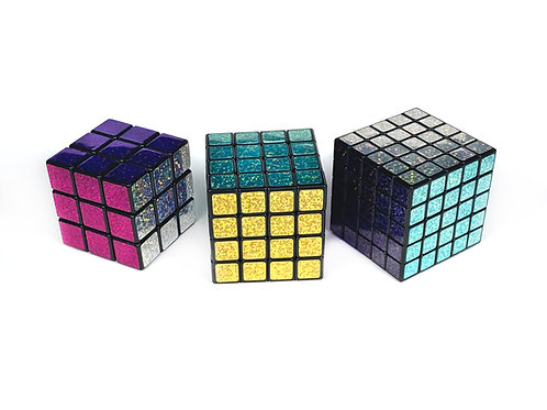 Glitter Holographic Puzzle Cubes