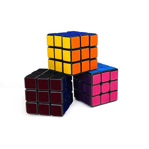 3x3 Tactile Velvet Custom Puzzle Cubes ~ Soft Velvet Cube