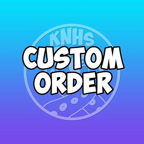 Custom order for perler watermelon slice