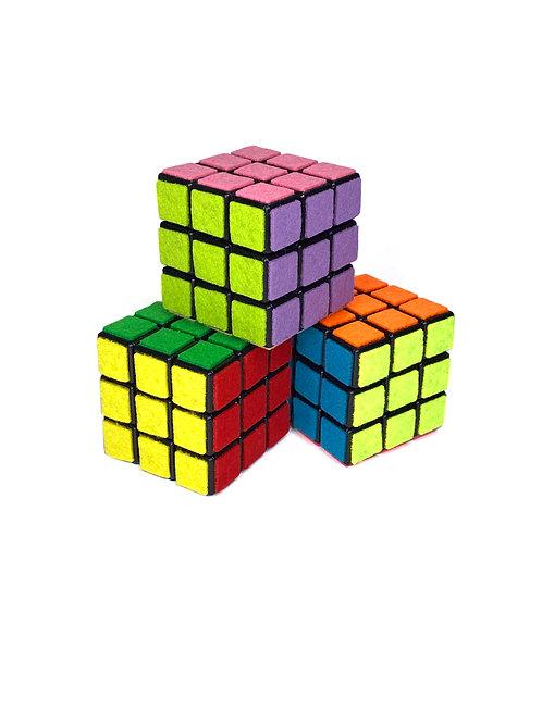 3x3 Tactile Felt Custom Puzzle Cubes ~ Fuzzy Felt Cube