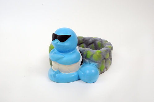 Squirtle Pokémon Inspired Plant Pot ~ Handmade Concrete Squirtle Wishing Well