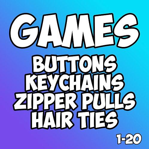 Games Pin Badges 1-20