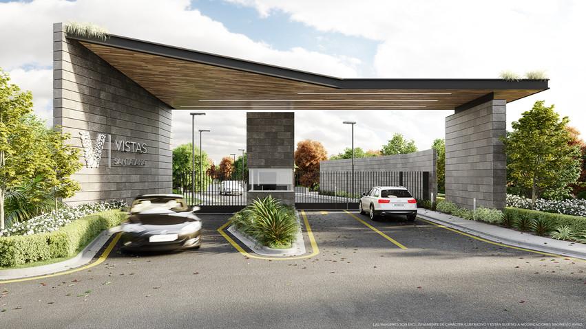 Acceso parque infantil casas club vistas santa ana condominio rio oro amenidades