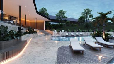 stay room sillones piscina restaurante casas club vistas santa ana condominio rio oro amen