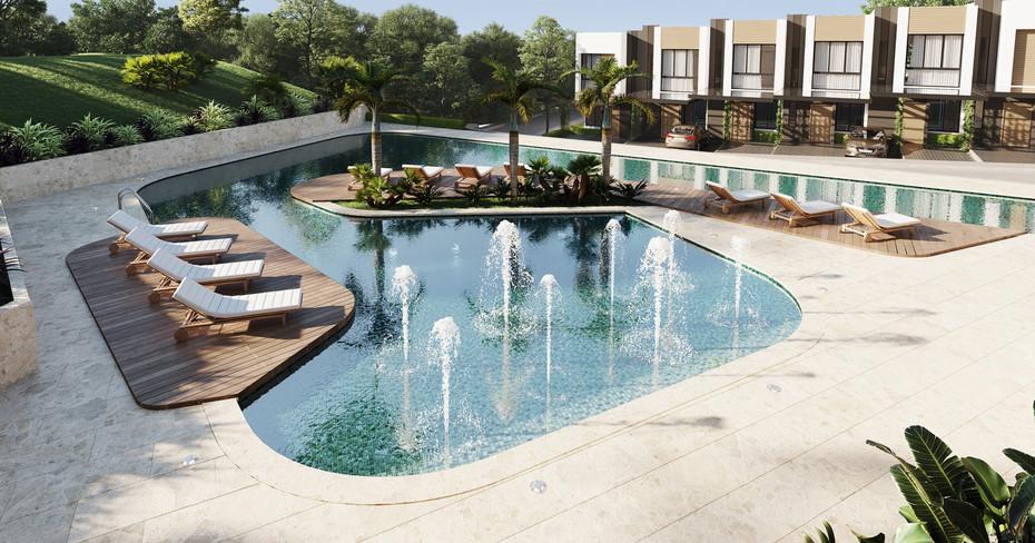 piscina casa club vistas santa ana condominio