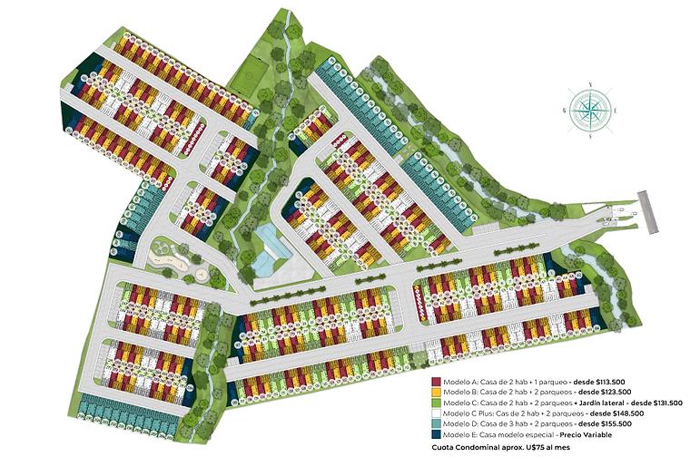 Masterplan-con-numeración-condominio-vistas-santa-ana-santana-rio-oro-casas-modelos-habita