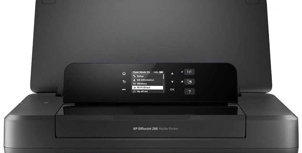 Impresora Portátil HP OfficeJet 200 Inalámbrica Negra - HP