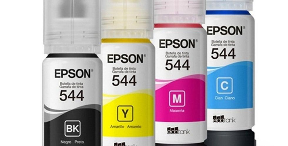 Combo 4 Botellas De Tinta Epson T544 70ml En Bolsa (ecotank)