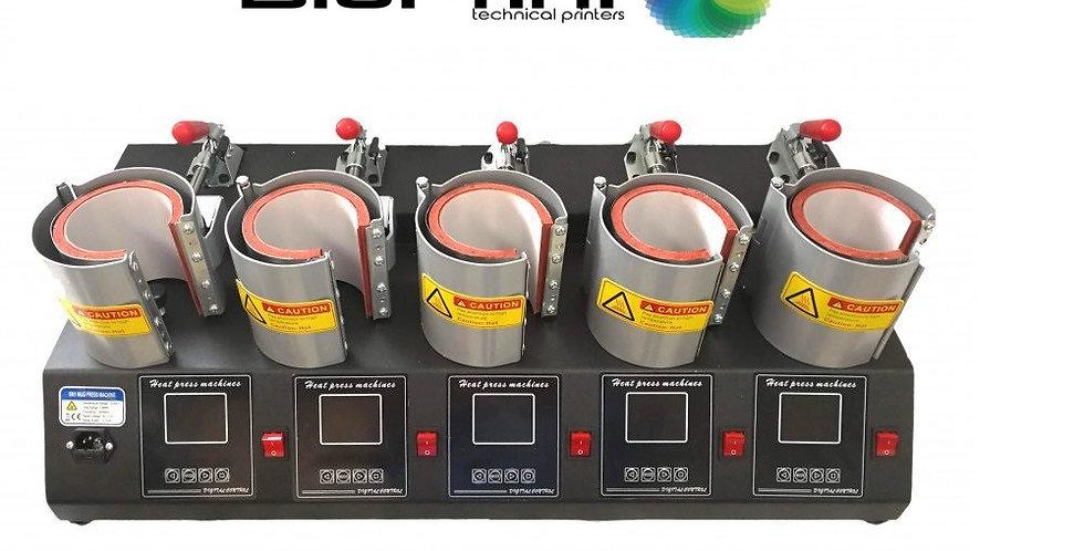 Termofijadora 5 Mugs