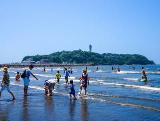 江ノ島も海開き