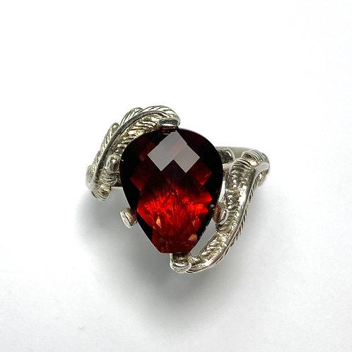 4.85ct Natural Red Rhodolite Pyrope garnet 925 Silver / Gold/ Platinum ring