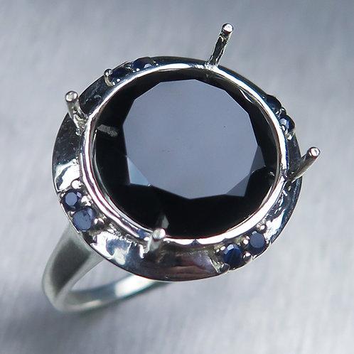 Natural Tektite Meteorite dark brown 925 Silver / Gold/ Platinum ring