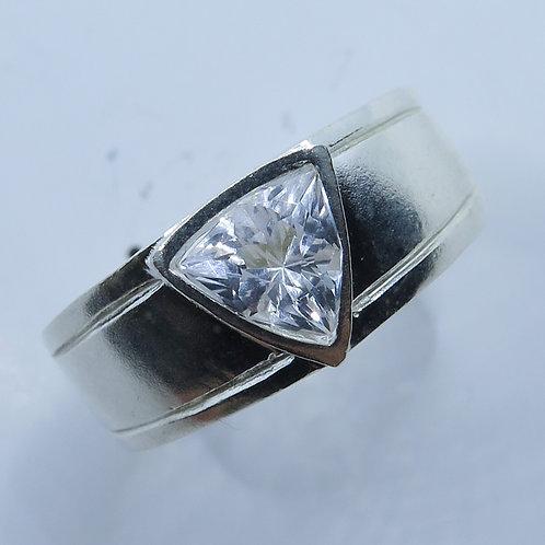 Natural Danburite 925 Silver / Gold/ Platinum engagement unisex ring