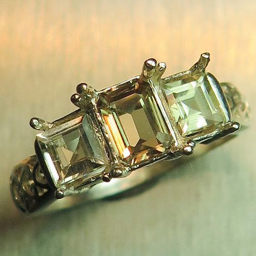Natural Colour change Diaspore 925 Silver / Gold/ Platinum ring