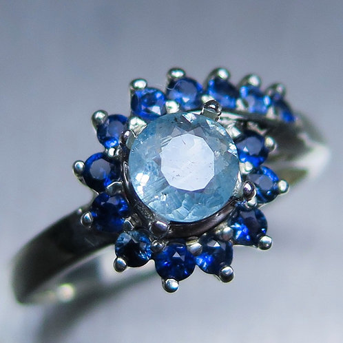0.55ct Natural blue Afghanite 925 Silver / Gold/ Platinum ring